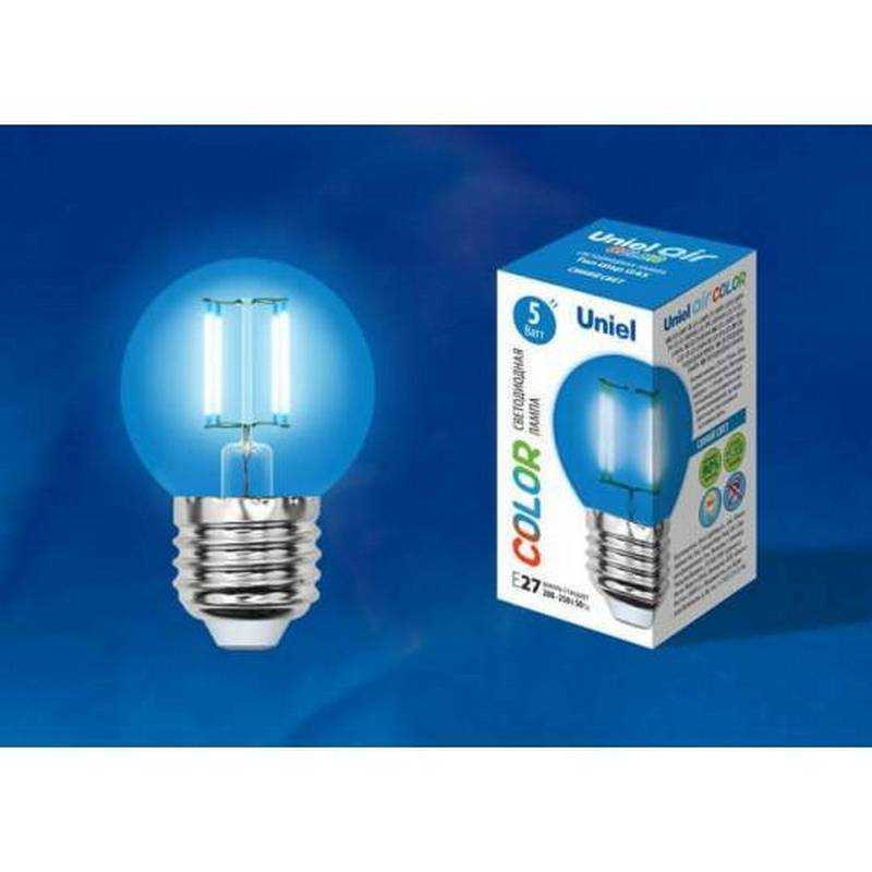 LED-G45-5W/BLUE/E27 GLA02BL картон